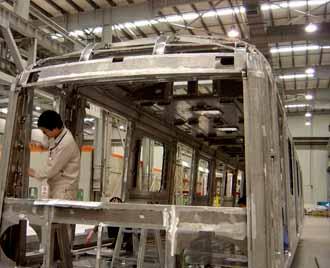 使用工业铝型材制作的车身