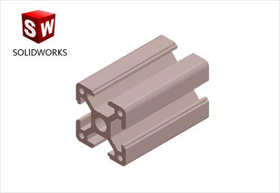 3030重型工业铝型材3d模型