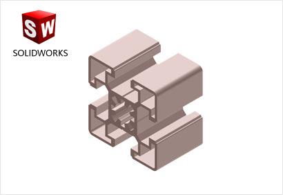 4545工业铝型材3d模型